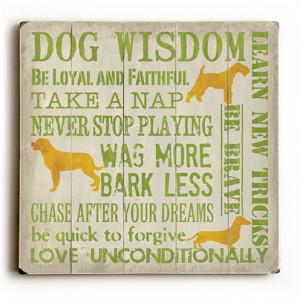 "Dog Wisdom"" – Funny dog signs with funny dog quotes. Gifts for Dog ..."