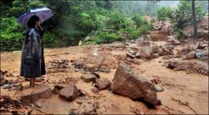 ... landslides crushed homes, bridges collapsed, and dozens of villages