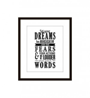Print, Inspirational, Motivational Quote Wall Art, Black and White ...
