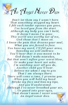 AN ANGEL NEVER DIES Blue Baby Boy Bereavement Grave Card Memorial ...