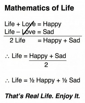 Mathematics of Life, funny Math Quotes