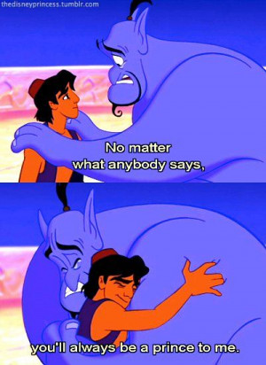 Aladdin Frees Genie From His Prison In The Lamp With His Third Wish In ...
