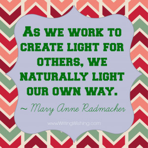 Alison Lee Way via Our Own Light Quote