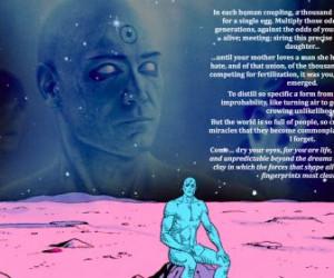 dc comics quotes dr manhattan HD Wallpaper of Cartoon & Animation