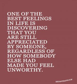 You Are Appreciated Quotes