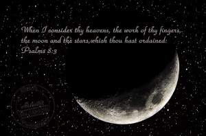 Moon and Stars with Bible Verse-Little Rock Photographer