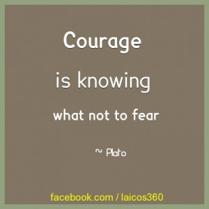 Courage is knowing what not to fear #inspirational #quote http://www ...
