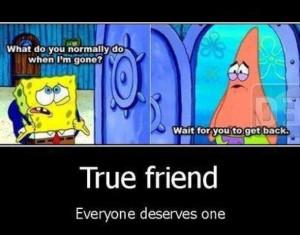 cute, friendship, patrick, quotes, spongebob