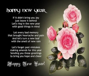 Happy New Year Poems Images