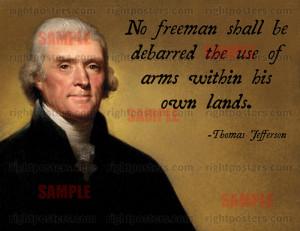 Thomas Jefferson right to bear arms