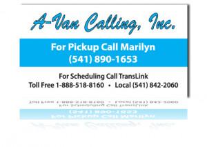 Medical Transportation Service Business Card