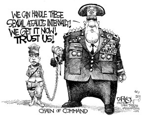 Political Cartoon is by John Darkow in the Columbia Daily Tribune.