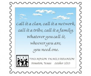 Family Reunion Hut - Family Reunion Quote Magnets™ - Template 4