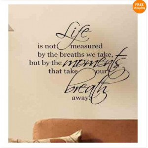 Quote Wall Stickers of Cherish Your Life