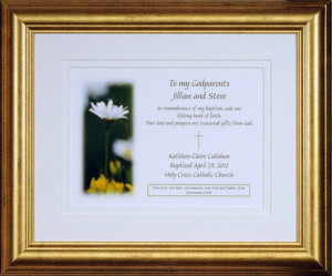 Godparents daisy gold frame 565