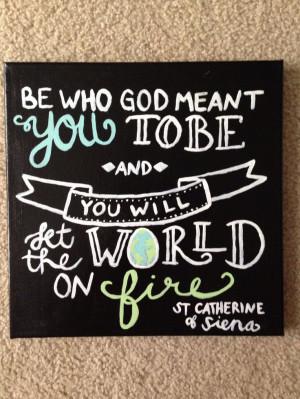 St Catherine of Siena quote canvas