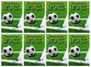 ... press here is a printable soccer valentine for your young soccer fan