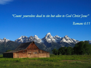 Count yourselves dead to sin but alive to God Christ Jesus