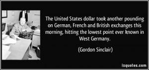 More Gordon Sinclair Quotes