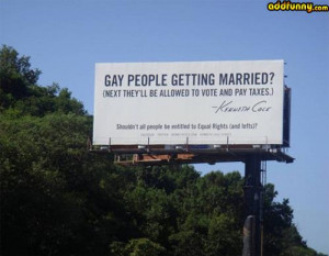 Gay people getting married? random
