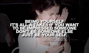 impressed, love, music, quote, selena gomez, words, yourself