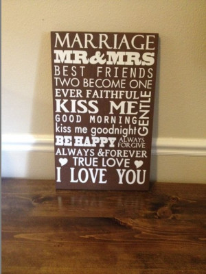 ... rules, love saying, wall art, wood and vinyl sign,marriage sayings