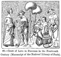 Amor cortés en Provenza en el Manuscrito del siglo XIV de la ...
