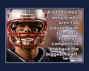 Tom Brady Patriots Photo Quote Post er Wall Art Print 5x7
