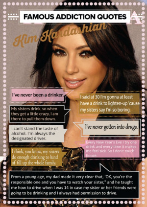 Kim Kardashian quotes about drugs and alcohol (INFOGRAPHIC)