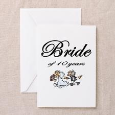 10th Wedding Anniversary Gifts Greeting Cards (Pk for