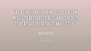 Adolf Hitler Christian Quotes