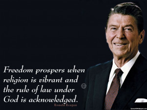 Ronald Reagan Freedom, Religion Quotes Images, Pictures, Photos, HD ...