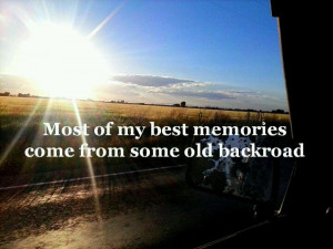Backroads, where you go to escape from all the nonsense and craziness ...