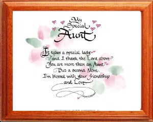 Aunt Quotes And Poems Click for full size image