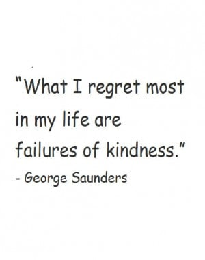 Quote of George Saunders