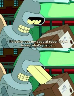 Funny Cartoon Screencap Robot Vision