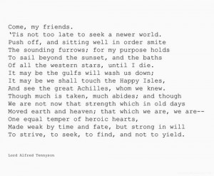 alfred tennyson poem ulysses / We Heart It