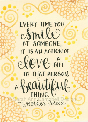 Mother Teresa Quotes About Smile. QuotesGram