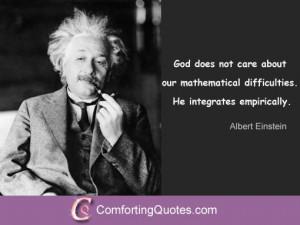 Albert Einstein Quote About God and Math