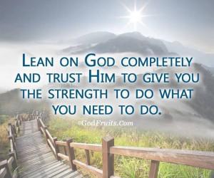 Lean on God completely https://www.facebook.com/photo.php?fbid ...