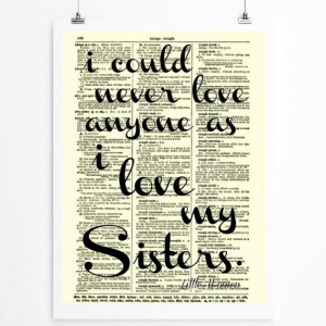 Sister Quote, Sisters Art, Sorority, Wall Decor, Art Print, Little ...