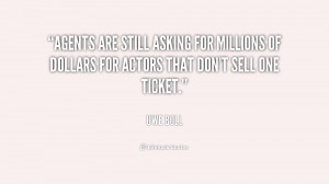 Agents are still asking for millions of dollars for actors that don't ...