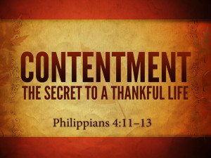 Christian Contentment On contentment.
