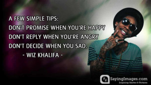 Inspirational Wiz Khalifa Quotes & Sayings