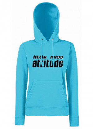 Details about Womens Funny Sayings Jokes Hoodies-Little Miss Attitude ...