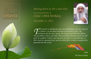 Osho's 80th Birthday, December 11, 2011