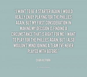 Chan Ho Park Quotes