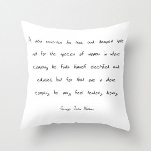 Pillow - George Jean Nathan Quote