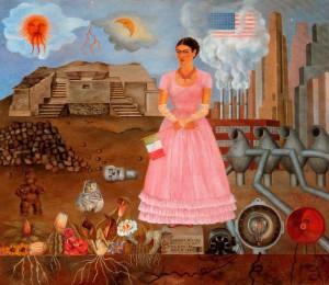 ... sur le Bordeline entre le Mexique et les États-Unis (Frida Kahlo