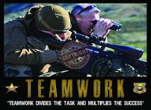 Teamwork Sniper Poster